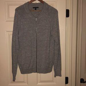 Men's Full Zip Banana Republic Grey Sweater